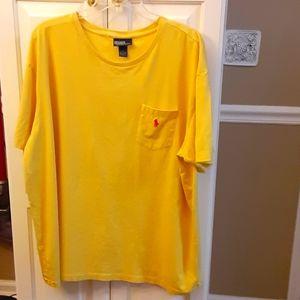 Polo Ralph Lauren yellow short sleeve red logo XXL